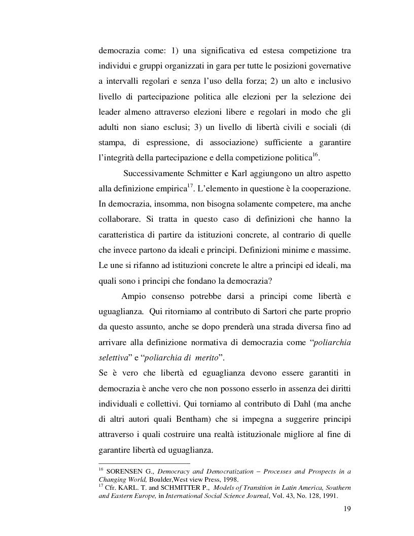Anteprima della tesi: Istituzioni democratiche vs Democrazia. Il caso dei paesi musulmani, Pagina 15