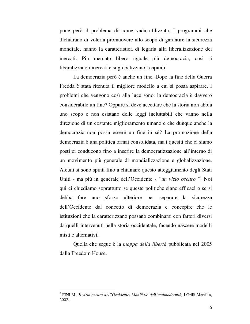 Anteprima della tesi: Istituzioni democratiche vs Democrazia. Il caso dei paesi musulmani, Pagina 2