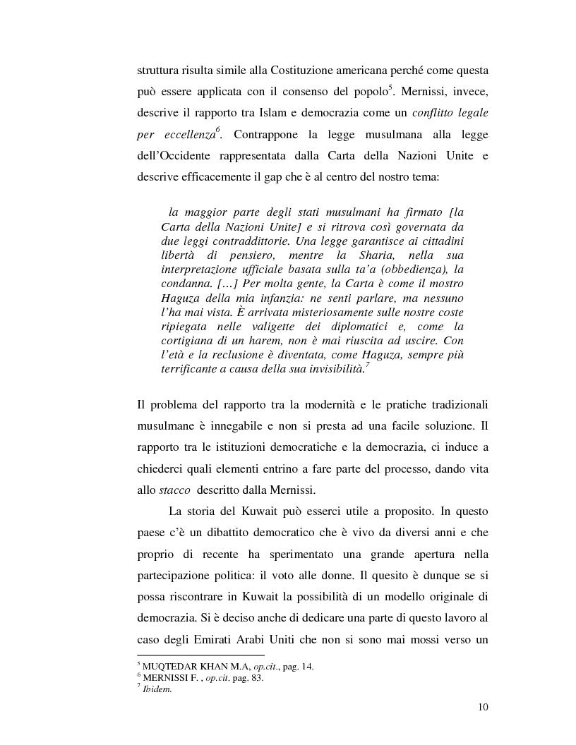 Anteprima della tesi: Istituzioni democratiche vs Democrazia. Il caso dei paesi musulmani, Pagina 6
