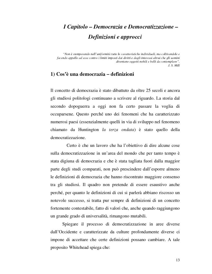 Anteprima della tesi: Istituzioni democratiche vs Democrazia. Il caso dei paesi musulmani, Pagina 9