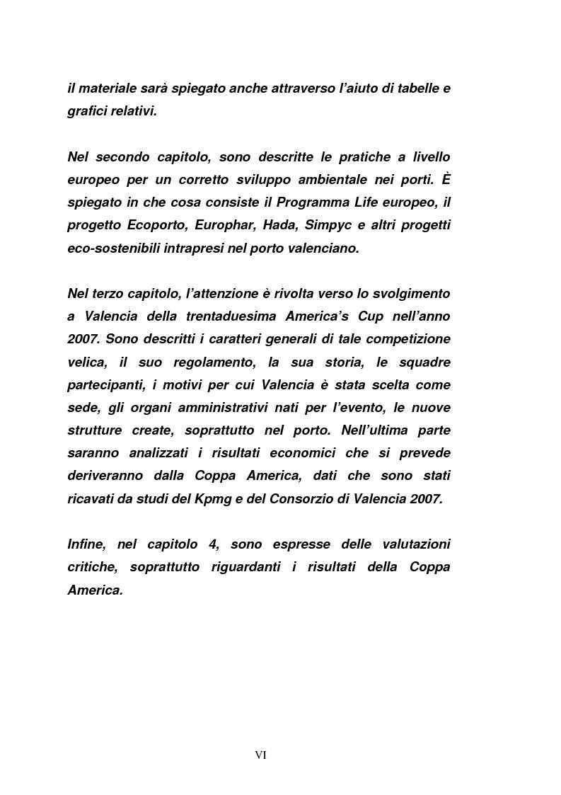 Anteprima della tesi: Il porto di Valencia e gli effetti della America's Cup, Pagina 2