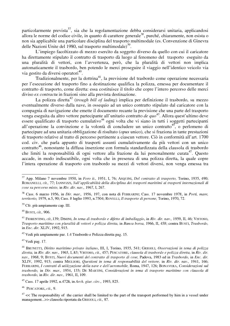 Anteprima della tesi: Le problematiche giuridiche del transhipment, Pagina 10