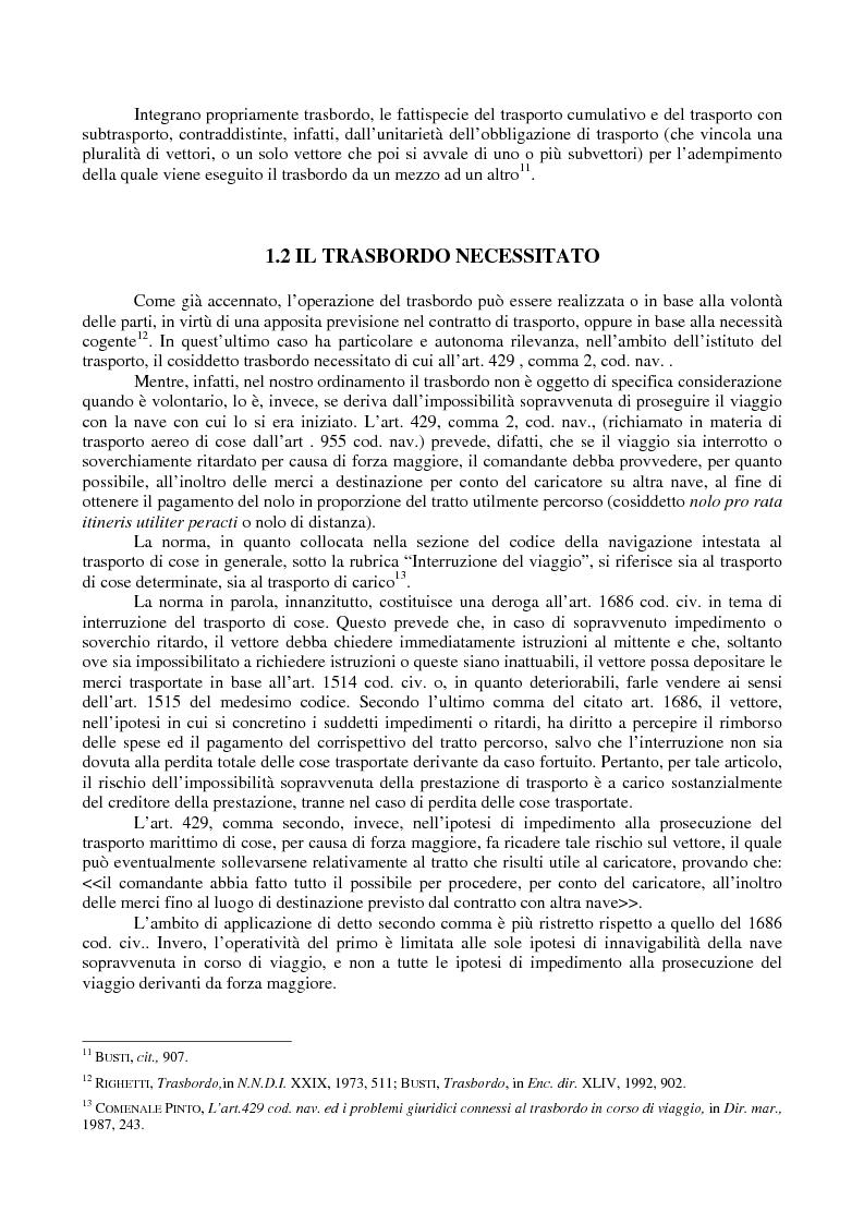 Anteprima della tesi: Le problematiche giuridiche del transhipment, Pagina 5