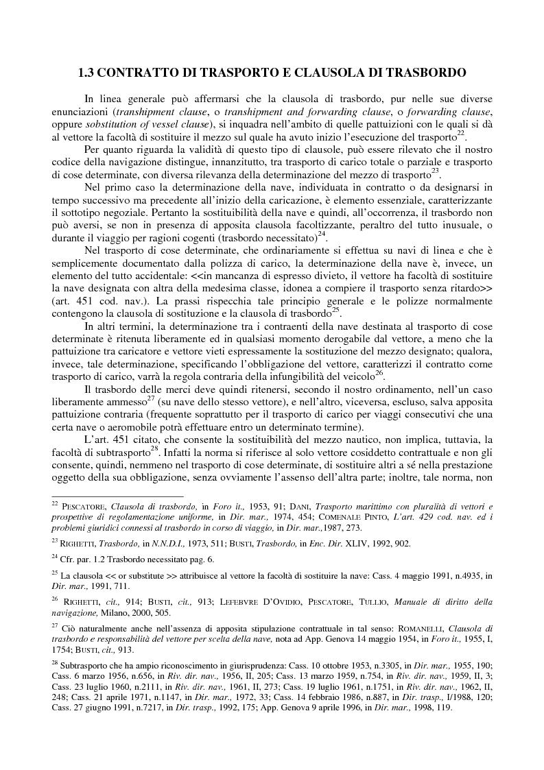Anteprima della tesi: Le problematiche giuridiche del transhipment, Pagina 8