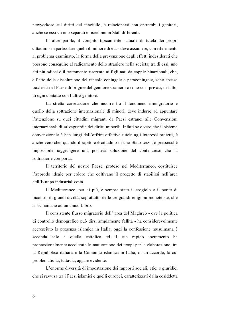 Anteprima della tesi: La sottrazione internazionale di minori nei suoi recenti sviluppi giurisprudenziali, Pagina 3