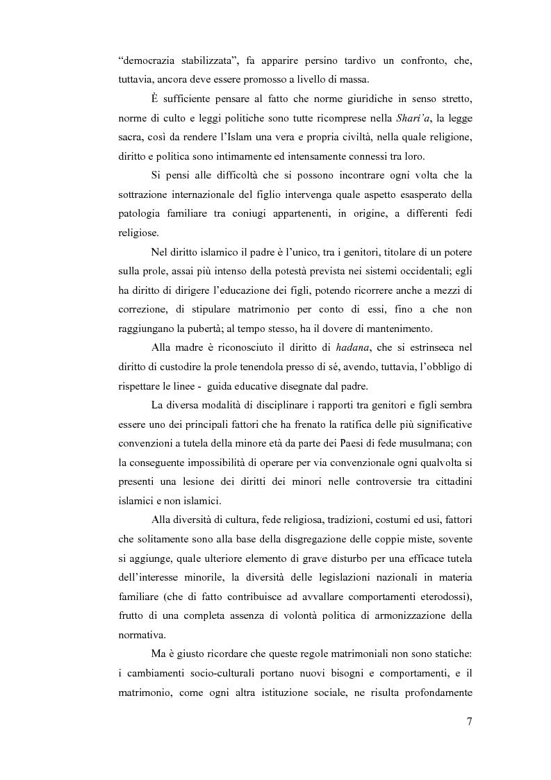 Anteprima della tesi: La sottrazione internazionale di minori nei suoi recenti sviluppi giurisprudenziali, Pagina 4
