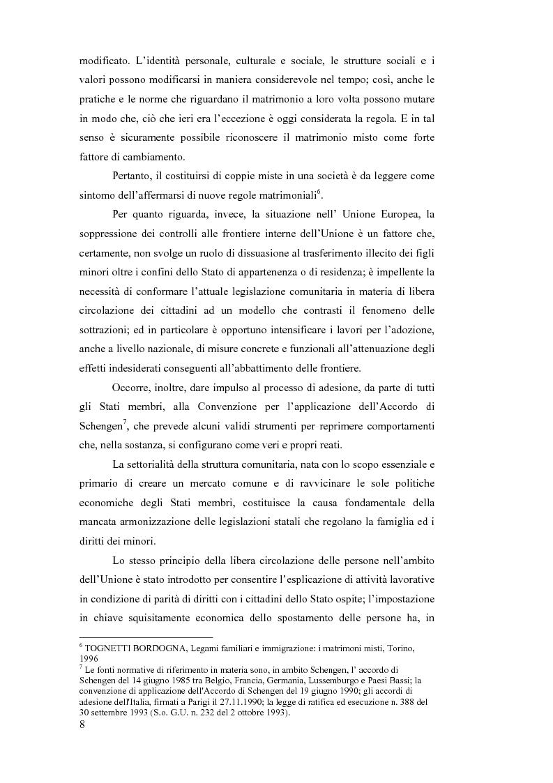 Anteprima della tesi: La sottrazione internazionale di minori nei suoi recenti sviluppi giurisprudenziali, Pagina 5