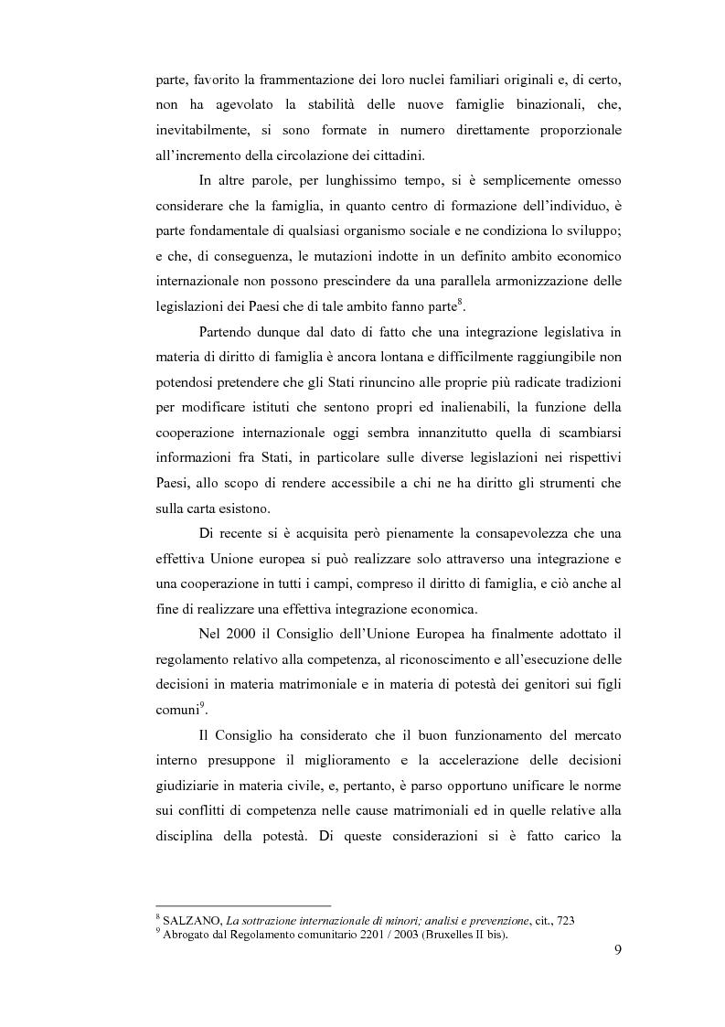 Anteprima della tesi: La sottrazione internazionale di minori nei suoi recenti sviluppi giurisprudenziali, Pagina 6
