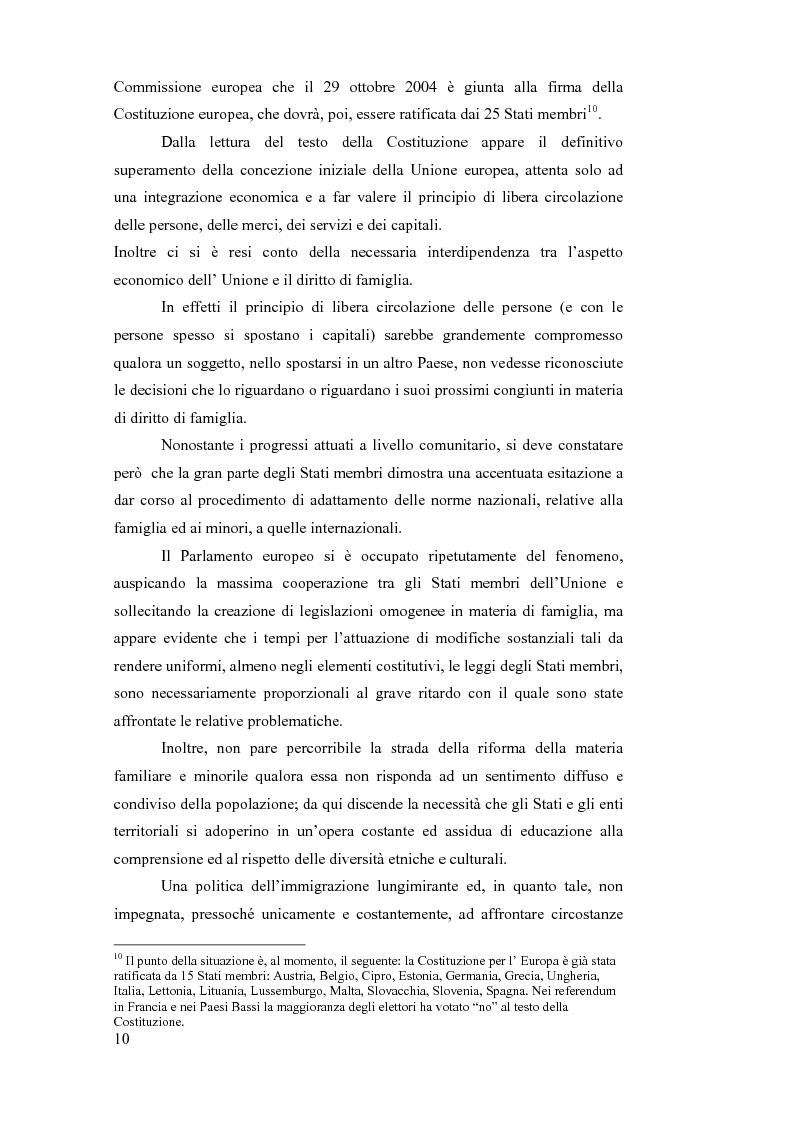 Anteprima della tesi: La sottrazione internazionale di minori nei suoi recenti sviluppi giurisprudenziali, Pagina 7