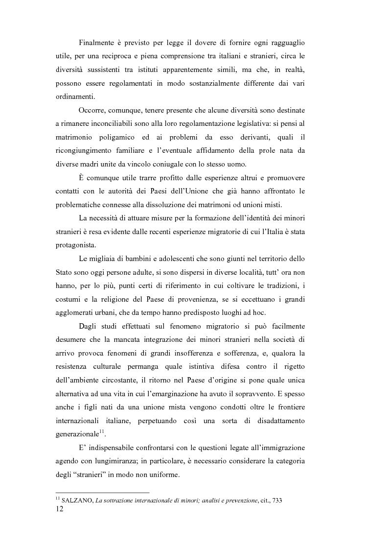 Anteprima della tesi: La sottrazione internazionale di minori nei suoi recenti sviluppi giurisprudenziali, Pagina 9
