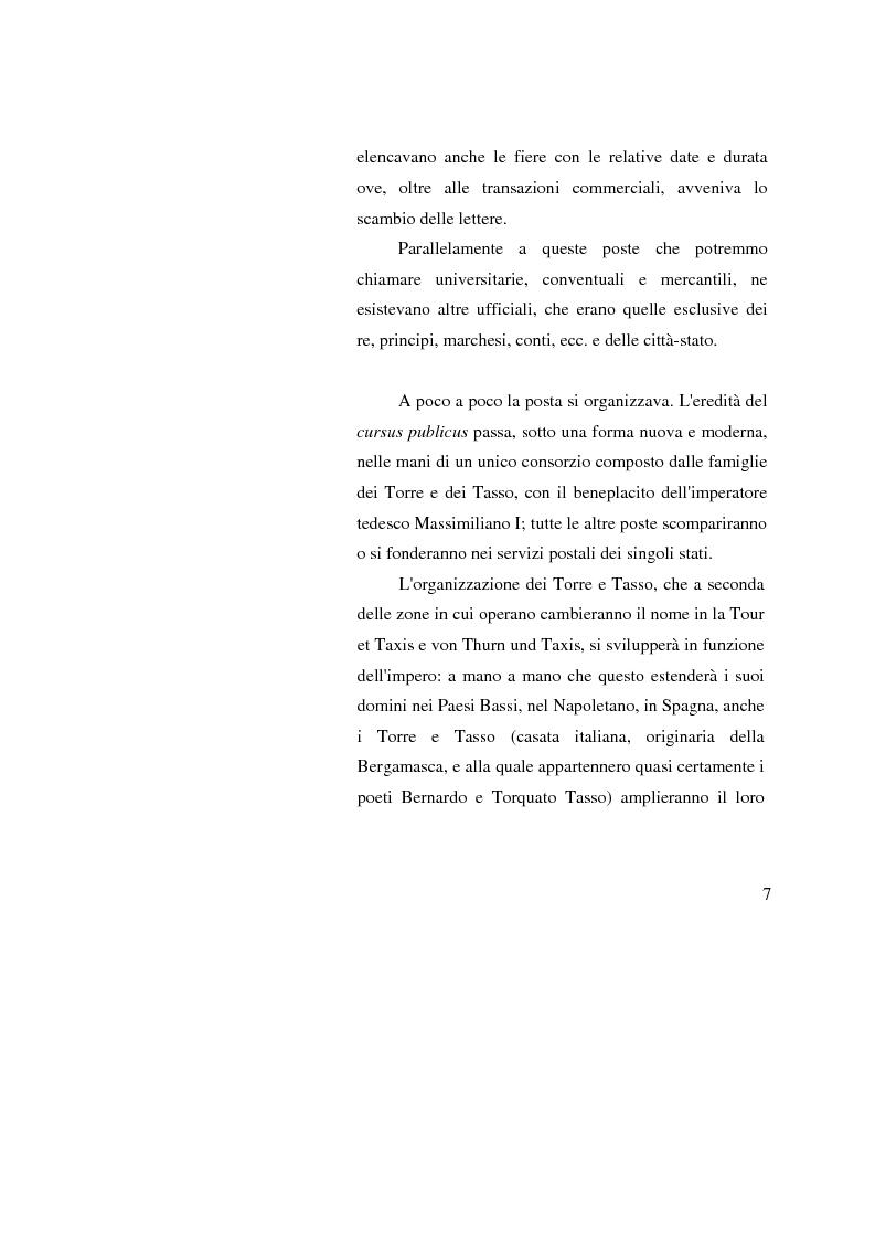 Anteprima della tesi: Poste Italiane: da servizio pubblico a sistema d'impresa, Pagina 5
