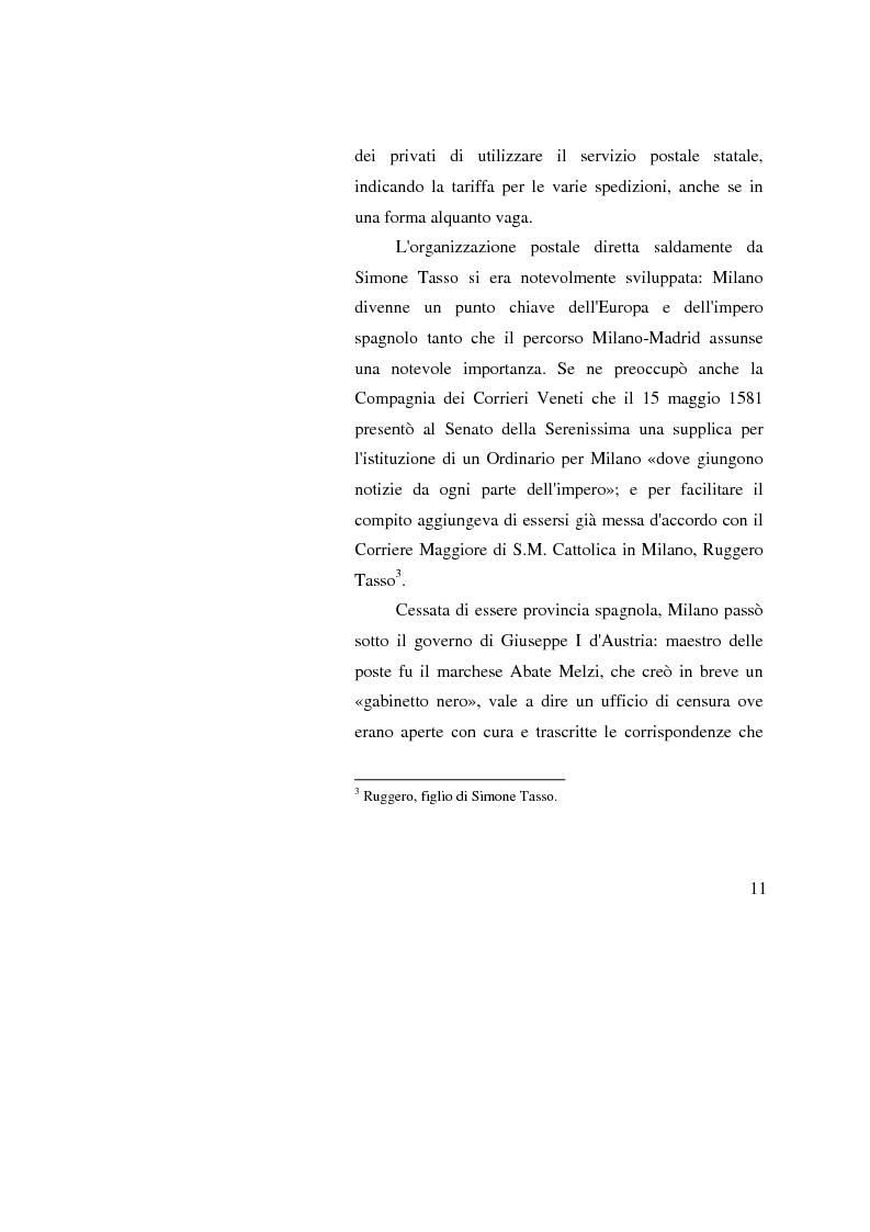 Anteprima della tesi: Poste Italiane: da servizio pubblico a sistema d'impresa, Pagina 9
