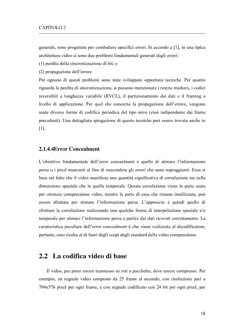 Anteprima della tesi: Adattamento congiunto delle tecniche di codifica di sorgente e delle modalità trasmissive per il trasferimento di segnali video su canale radiomobile, Pagina 10