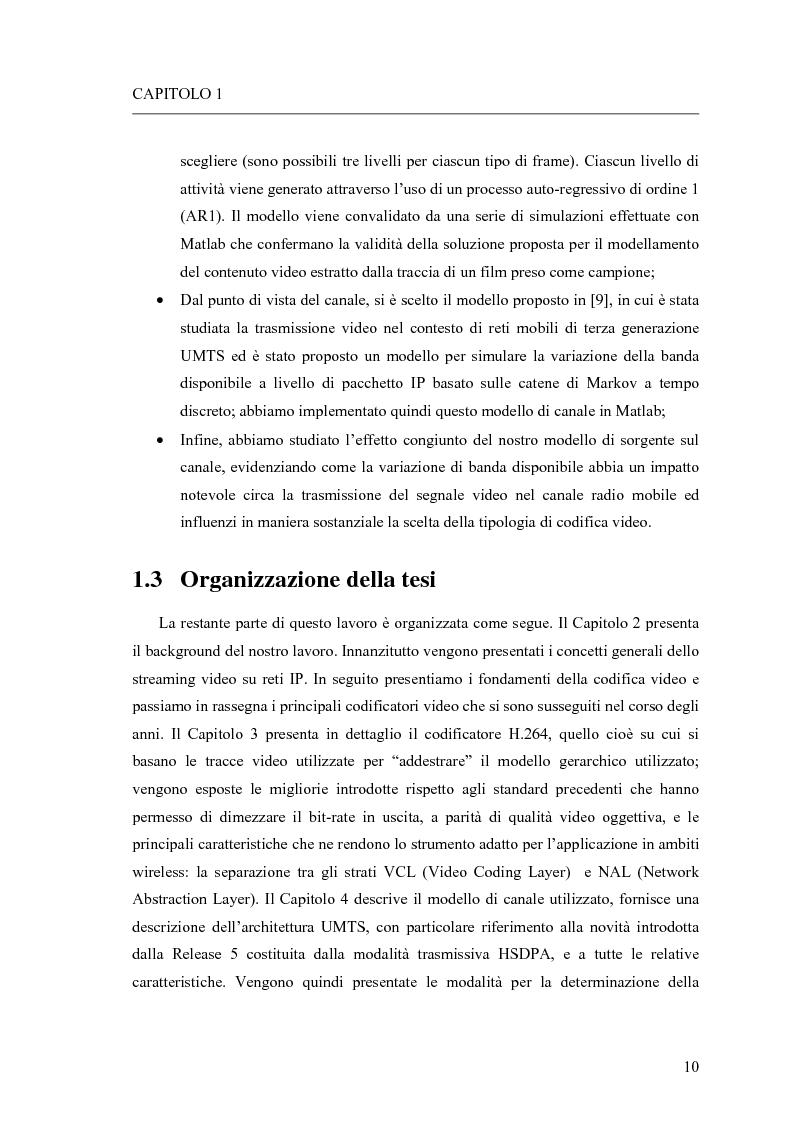 Anteprima della tesi: Adattamento congiunto delle tecniche di codifica di sorgente e delle modalità trasmissive per il trasferimento di segnali video su canale radiomobile, Pagina 2