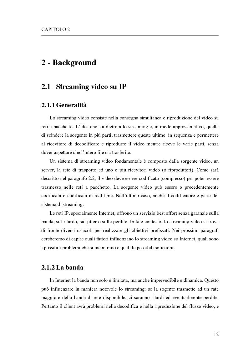 Anteprima della tesi: Adattamento congiunto delle tecniche di codifica di sorgente e delle modalità trasmissive per il trasferimento di segnali video su canale radiomobile, Pagina 4