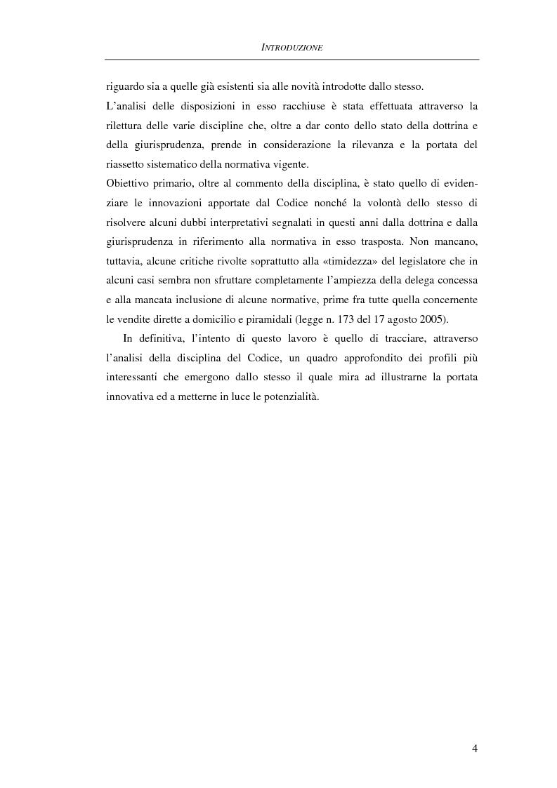 Anteprima della tesi: Il Codice del consumo. D.Lgs. 6 settembre 2005, n. 206, Pagina 3