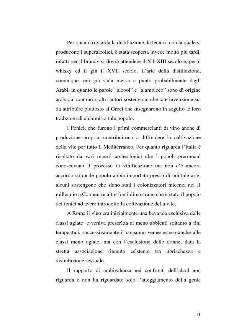 Anteprima della tesi: La famiglia alcolista. Esperienza di trattamento in un servizio alcologico territoriale e in un gruppo di auto-aiuto., Pagina 11
