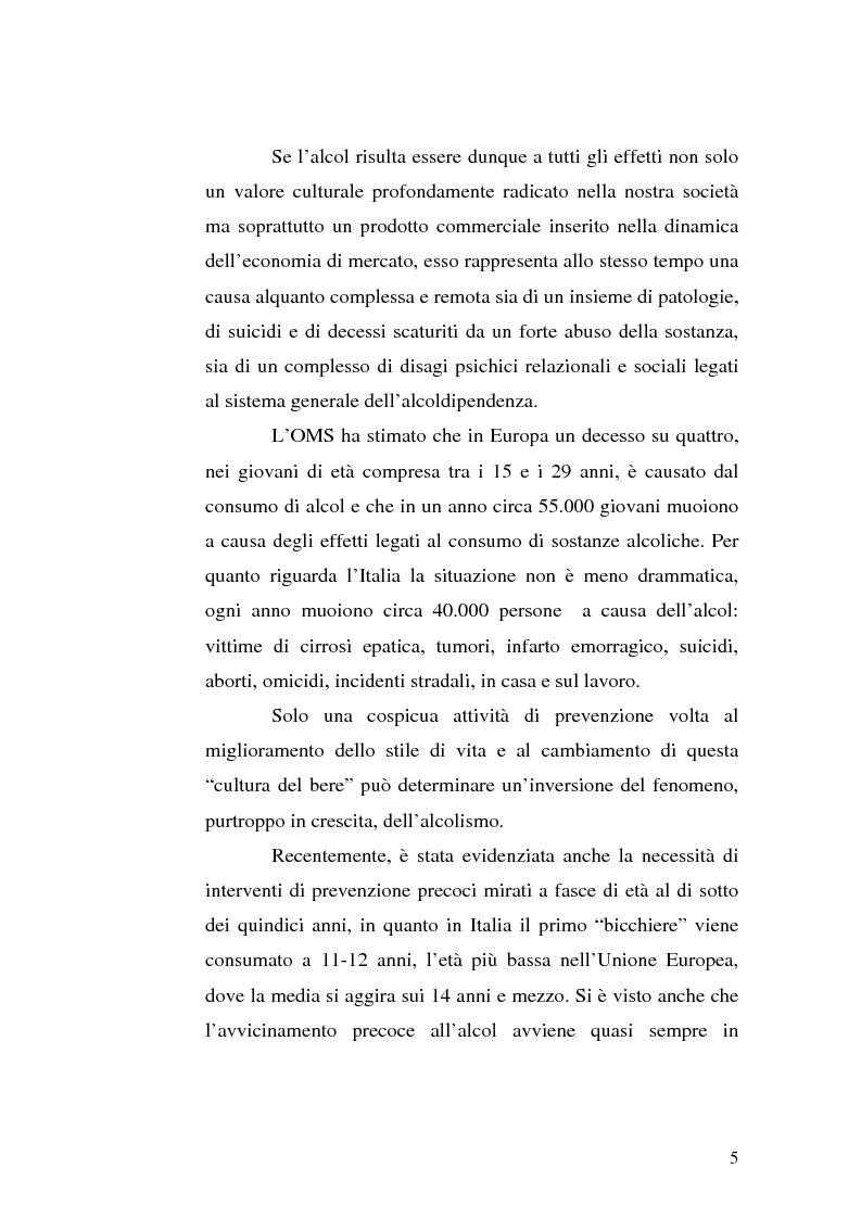 Anteprima della tesi: La famiglia alcolista. Esperienza di trattamento in un servizio alcologico territoriale e in un gruppo di auto-aiuto., Pagina 5