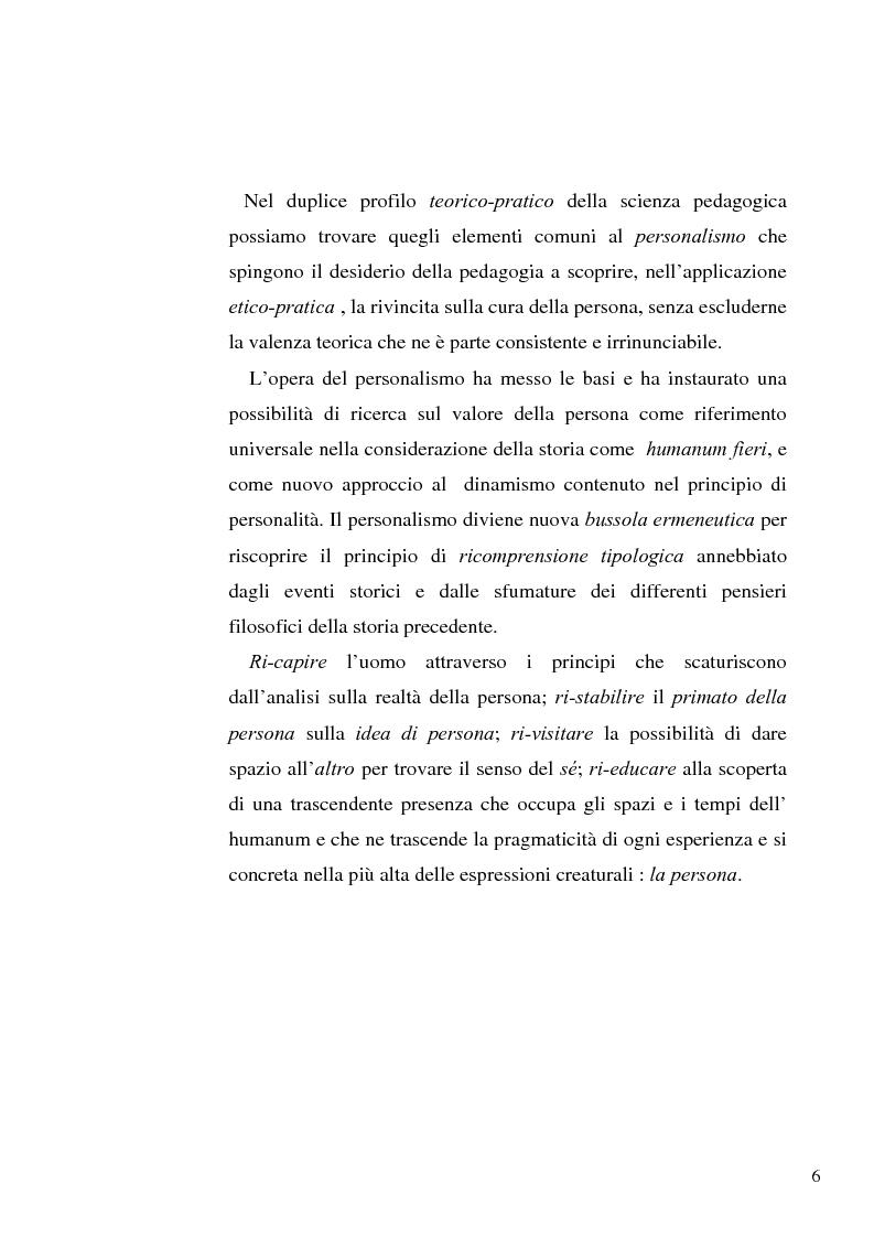 Anteprima della tesi: Il concetto di ''persona'' tra teoria e prassi educative, Pagina 4