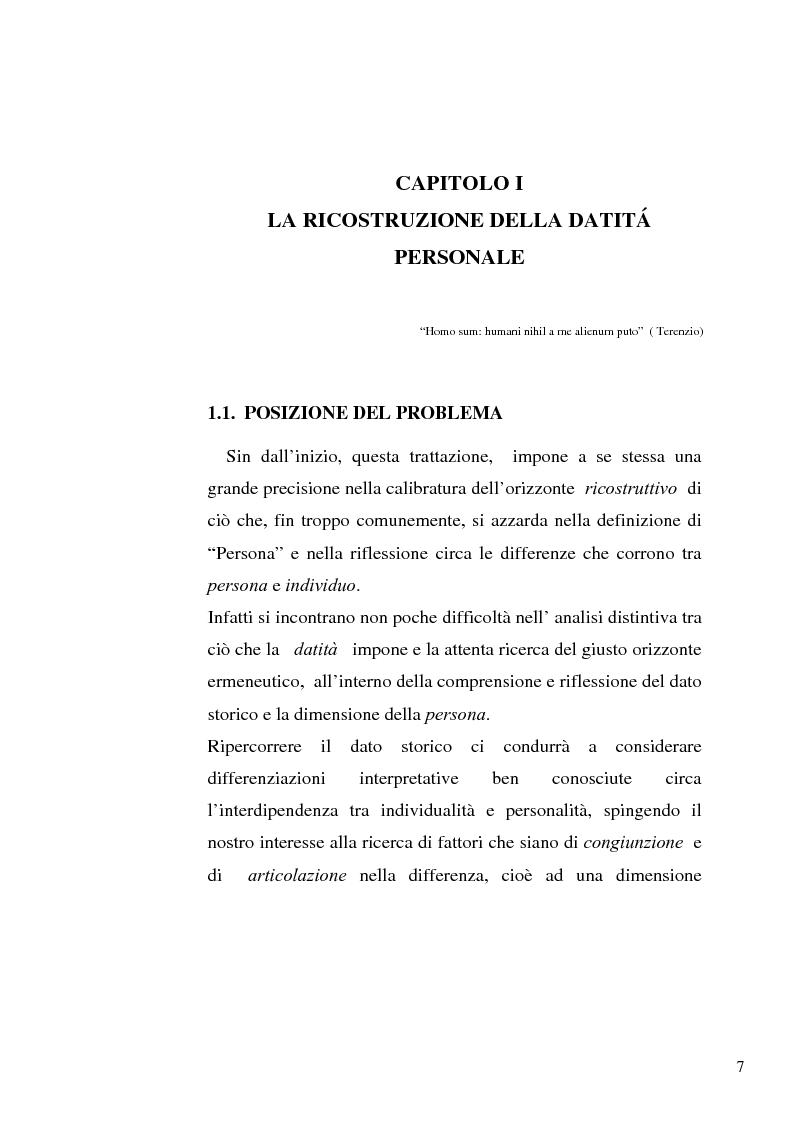 Anteprima della tesi: Il concetto di ''persona'' tra teoria e prassi educative, Pagina 5