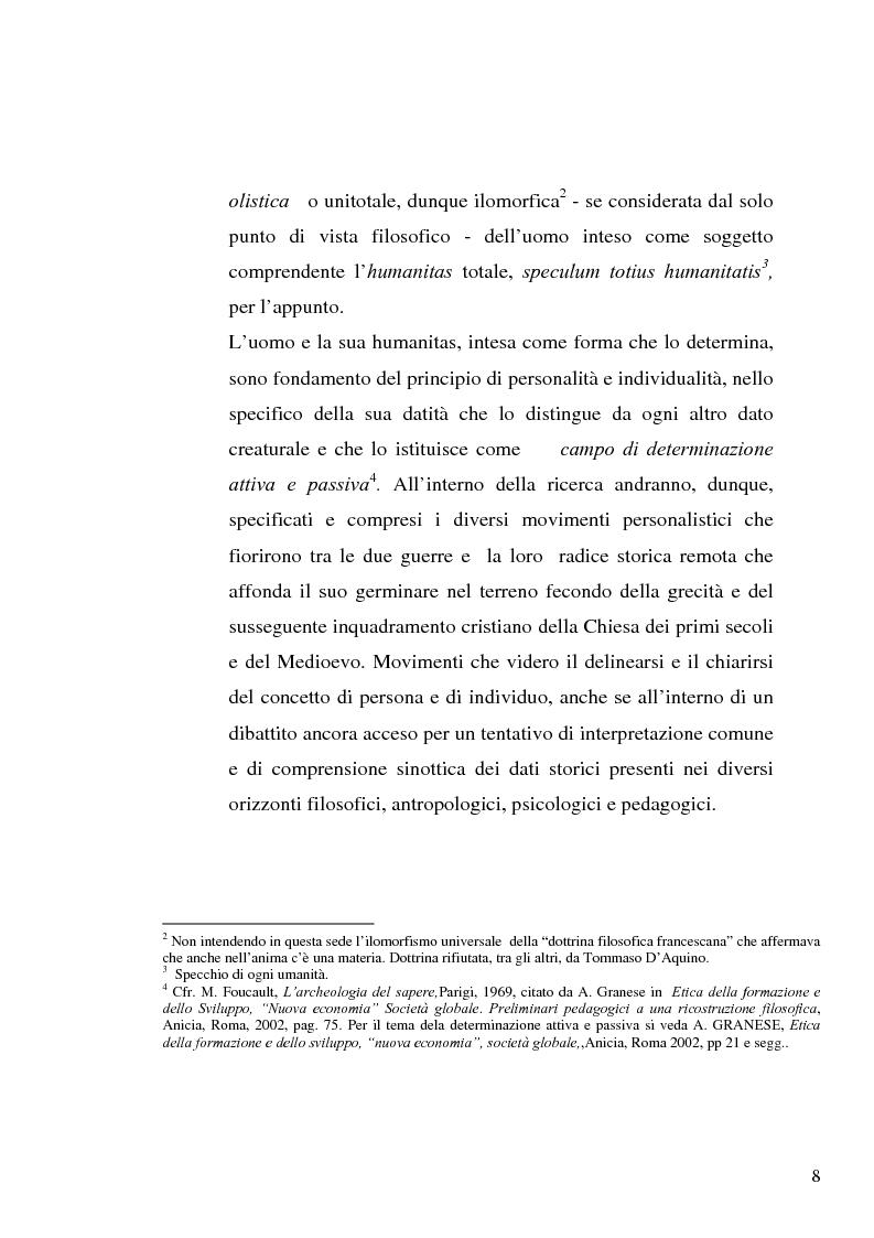 Anteprima della tesi: Il concetto di ''persona'' tra teoria e prassi educative, Pagina 6