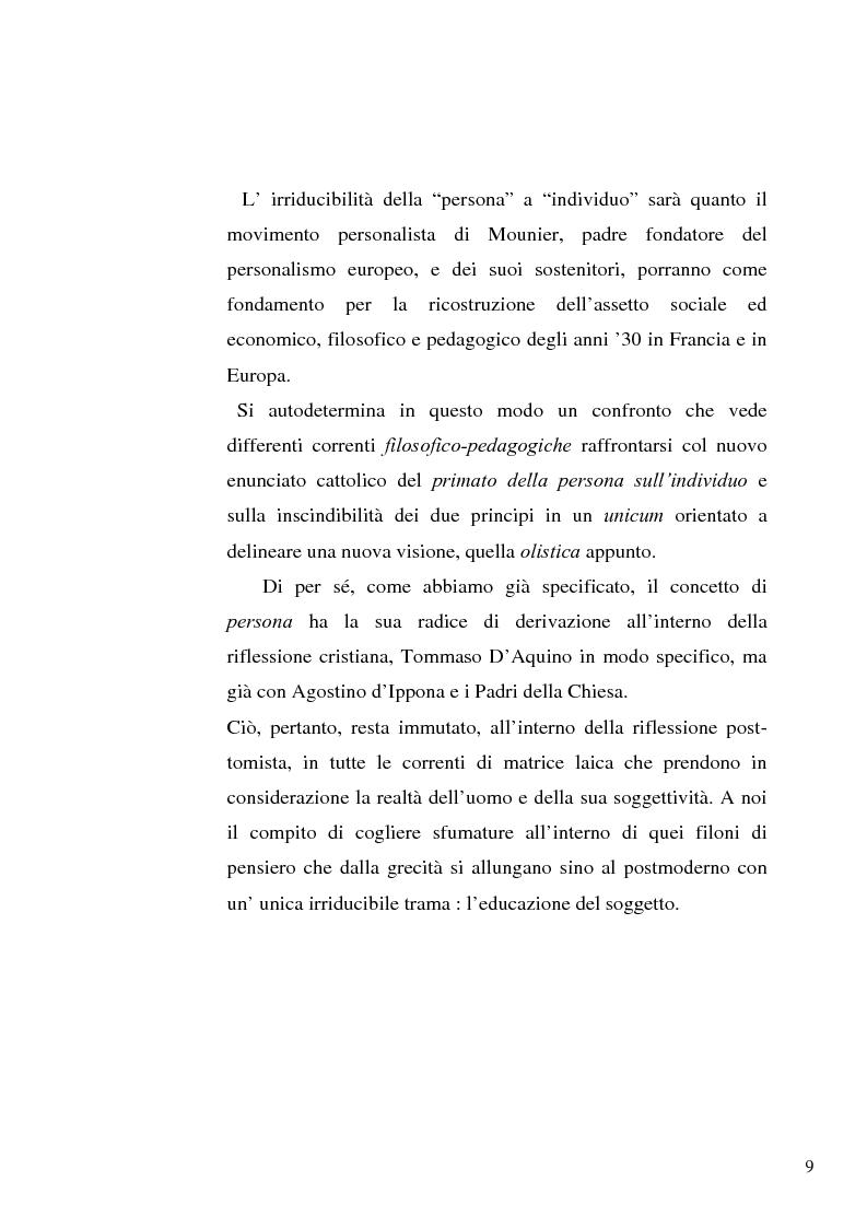 Anteprima della tesi: Il concetto di ''persona'' tra teoria e prassi educative, Pagina 7