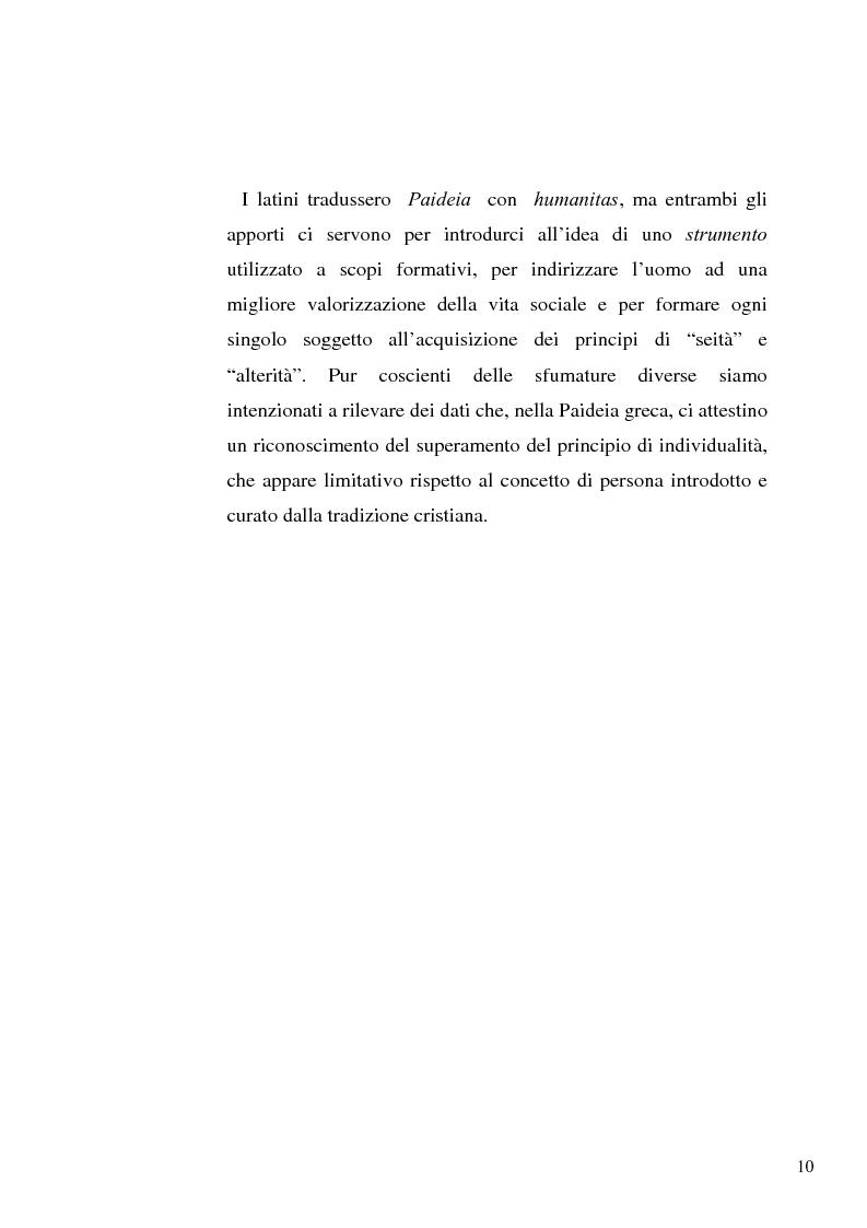 Anteprima della tesi: Il concetto di ''persona'' tra teoria e prassi educative, Pagina 8