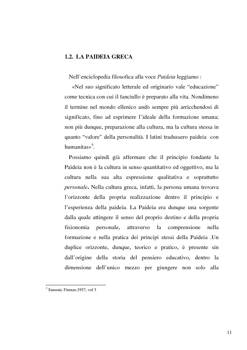 Anteprima della tesi: Il concetto di ''persona'' tra teoria e prassi educative, Pagina 9