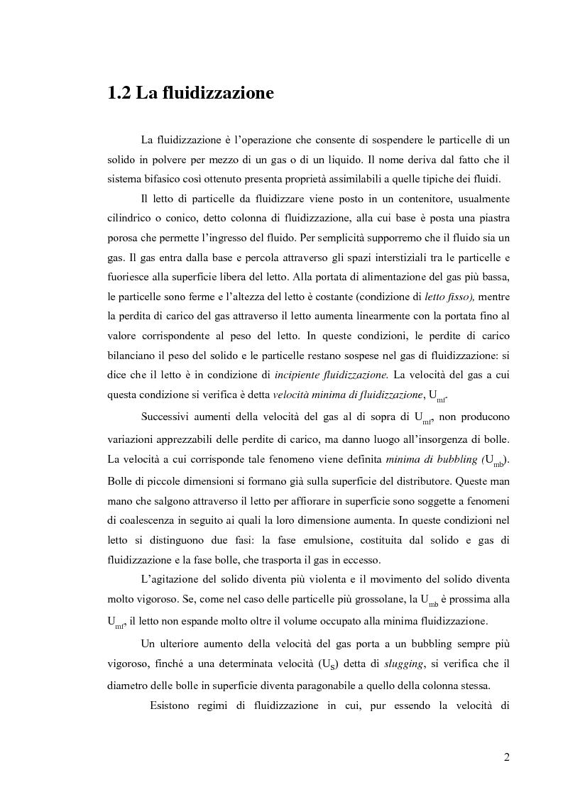 Anteprima della tesi: Esperimenti di fluidizzazione vibrata di una polvere coesiva di silice, Pagina 2