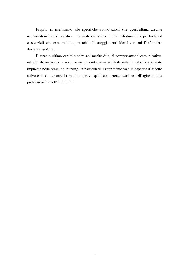 Anteprima della tesi: La relazione tra infermiere e persona malata: il nodo strategico della professione, Pagina 2