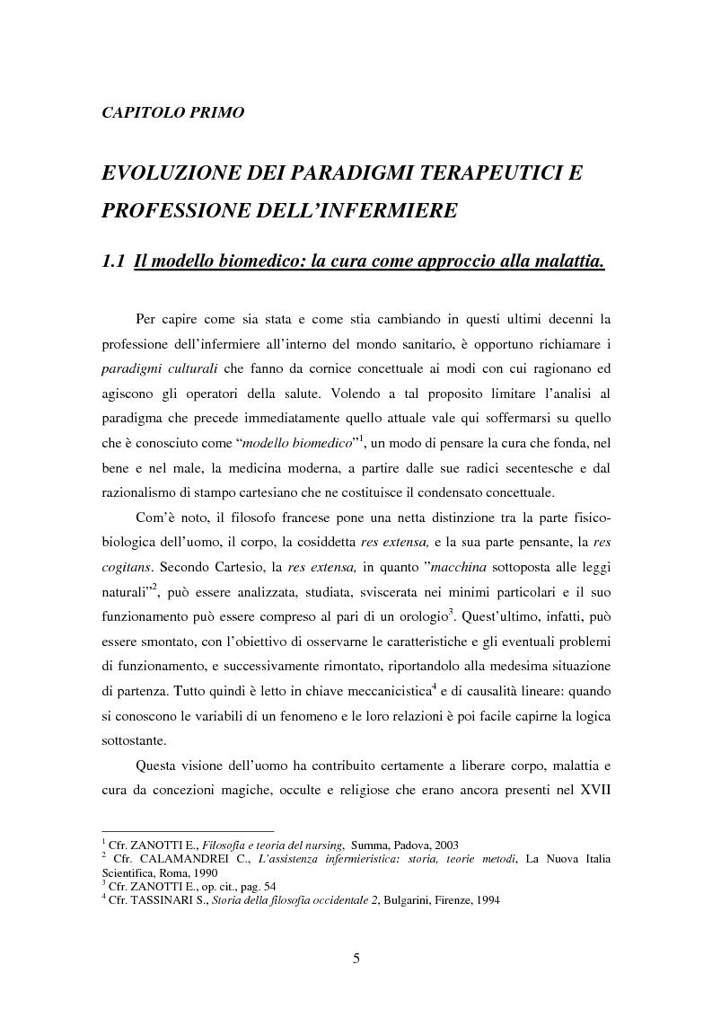 Anteprima della tesi: La relazione tra infermiere e persona malata: il nodo strategico della professione, Pagina 3