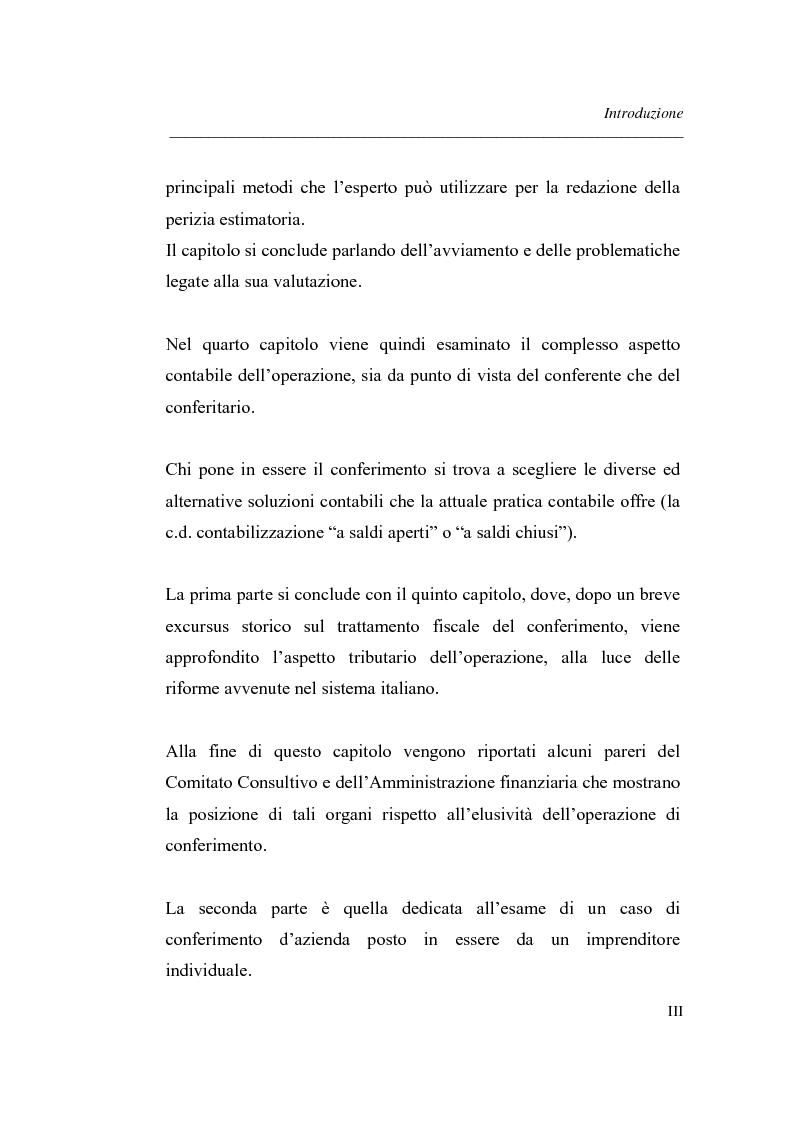 Anteprima della tesi: Similitudini tra operazioni straordinarie d'impresa. Il conferimento ''modello trasformazione''. Analisi di un caso empirico., Pagina 3
