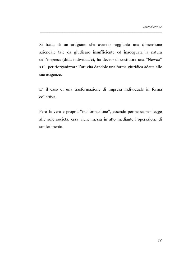 Anteprima della tesi: Similitudini tra operazioni straordinarie d'impresa. Il conferimento ''modello trasformazione''. Analisi di un caso empirico., Pagina 4