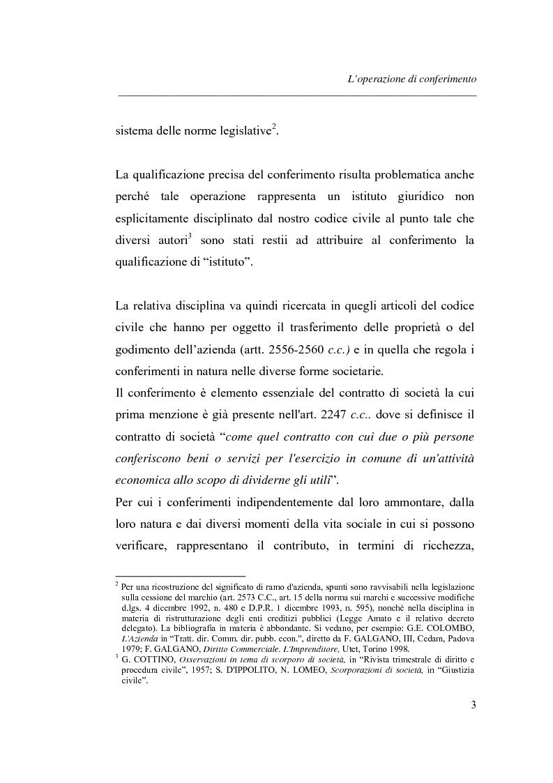Anteprima della tesi: Similitudini tra operazioni straordinarie d'impresa. Il conferimento ''modello trasformazione''. Analisi di un caso empirico., Pagina 7