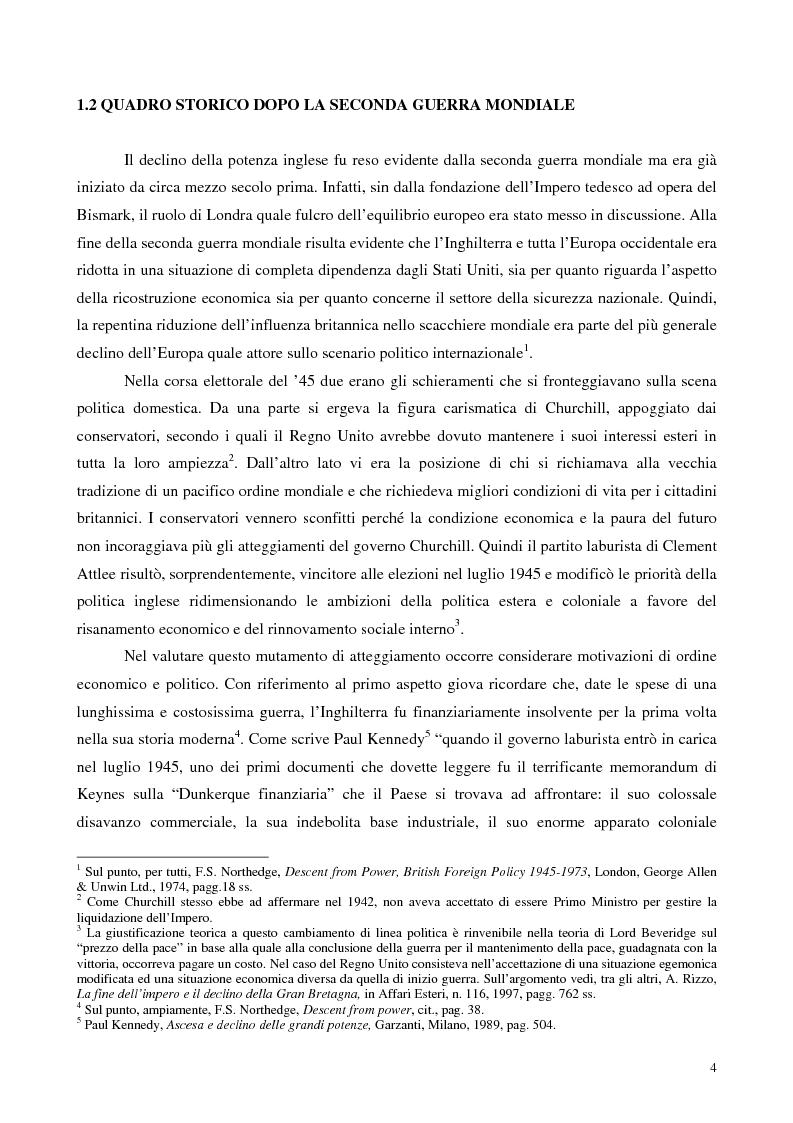 Anteprima della tesi: La politica estera dei governi Blair, Pagina 3