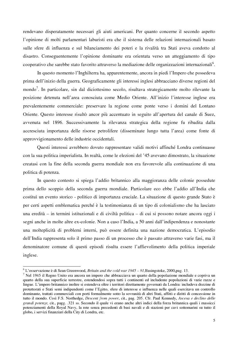 Anteprima della tesi: La politica estera dei governi Blair, Pagina 4