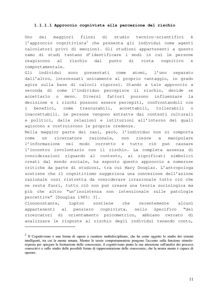 Anteprima della tesi: Dalla percezione del rischio al risk management in sanità, il sistema di incident reporting della Regione Emilia Romagna, Pagina 7