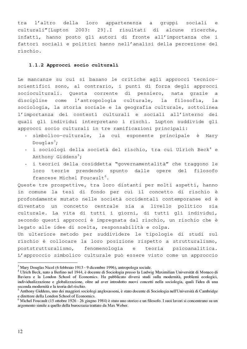 Anteprima della tesi: Dalla percezione del rischio al risk management in sanità, il sistema di incident reporting della Regione Emilia Romagna, Pagina 8
