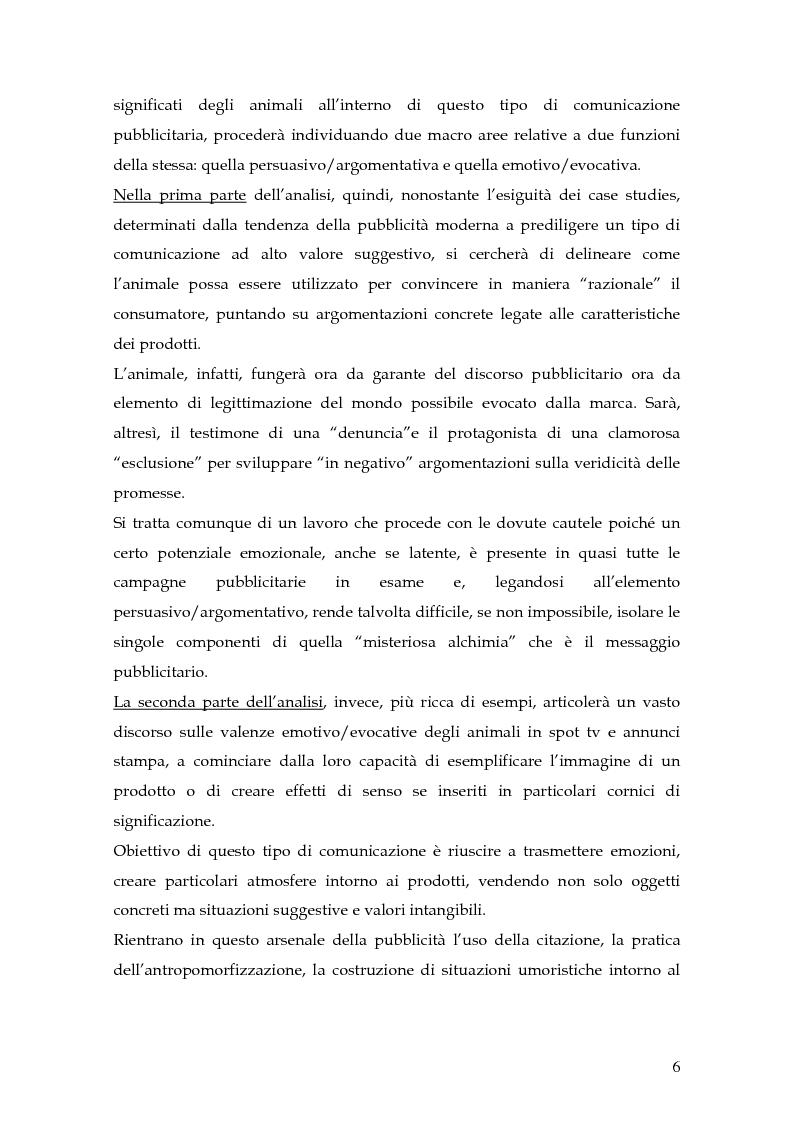 Anteprima della tesi: Animal spot: ruoli e significati degli animali nelle campagne pubblicitarie, Pagina 3