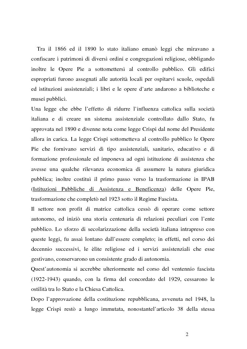 Anteprima della tesi: Organizzazioni non profit: normativa di riferimento e attività di controllo, Pagina 2