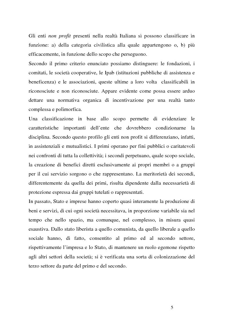 Anteprima della tesi: Organizzazioni non profit: normativa di riferimento e attività di controllo, Pagina 5