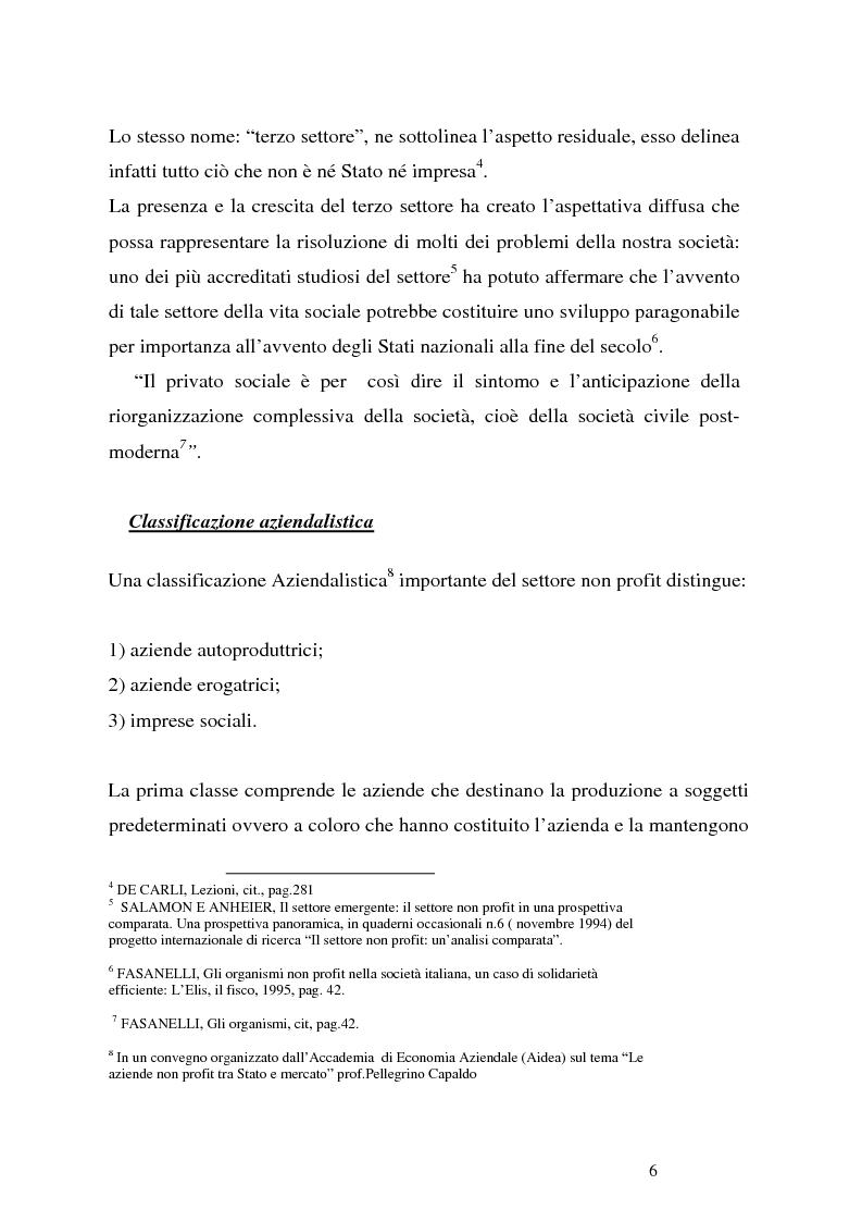 Anteprima della tesi: Organizzazioni non profit: normativa di riferimento e attività di controllo, Pagina 6