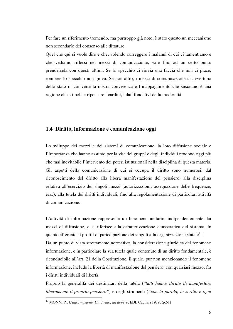Anteprima della tesi: Il sistema radiotelevisivo tra pubblico e privato. Una proposta di legge di iniziativa popolare, Pagina 11