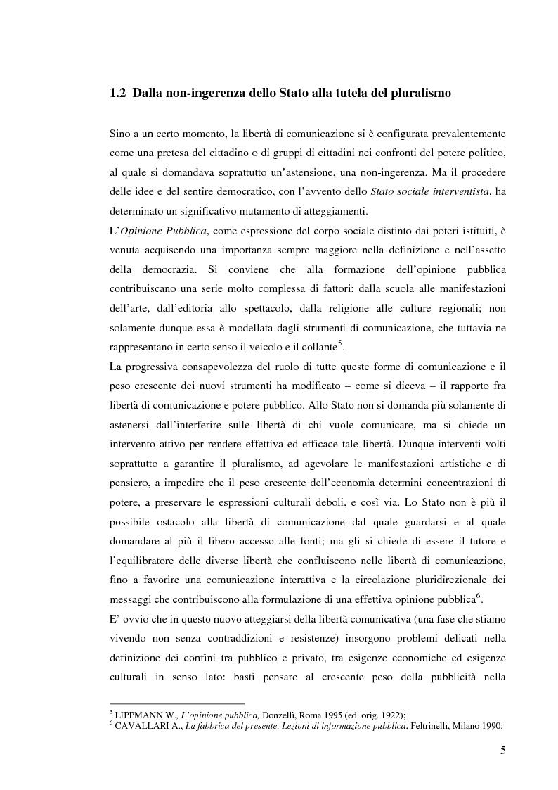 Anteprima della tesi: Il sistema radiotelevisivo tra pubblico e privato. Una proposta di legge di iniziativa popolare, Pagina 8