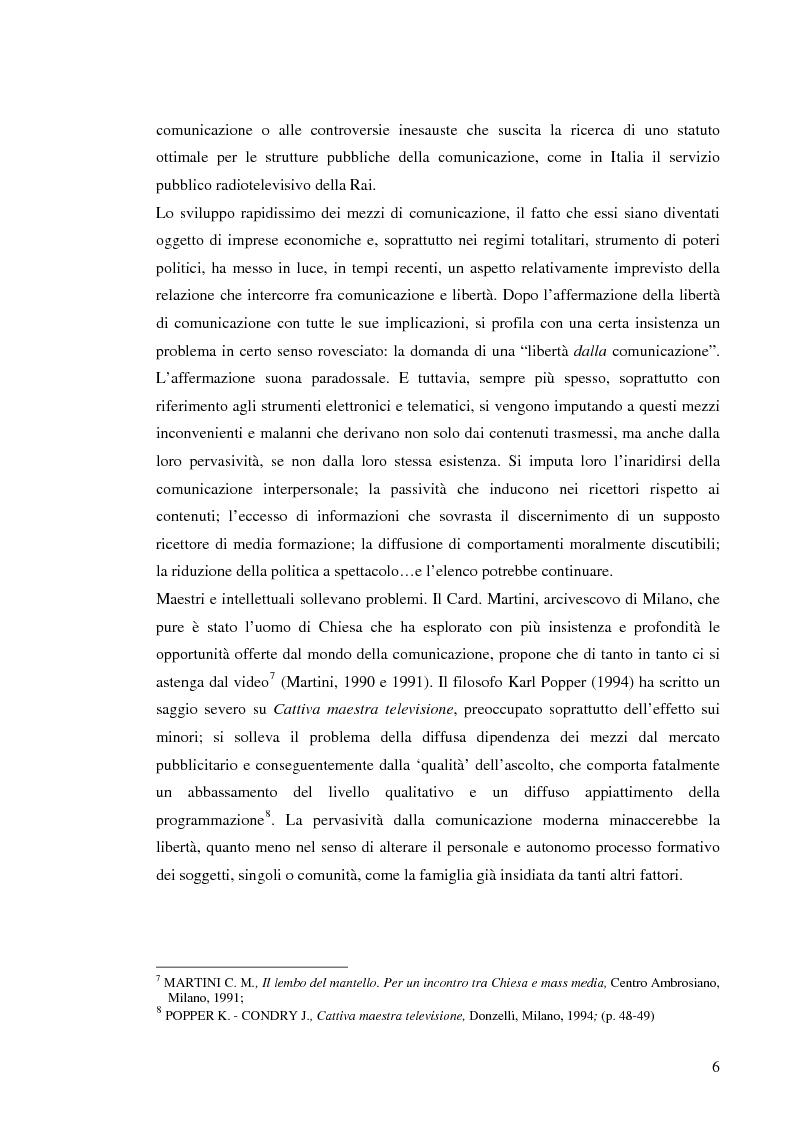 Anteprima della tesi: Il sistema radiotelevisivo tra pubblico e privato. Una proposta di legge di iniziativa popolare, Pagina 9