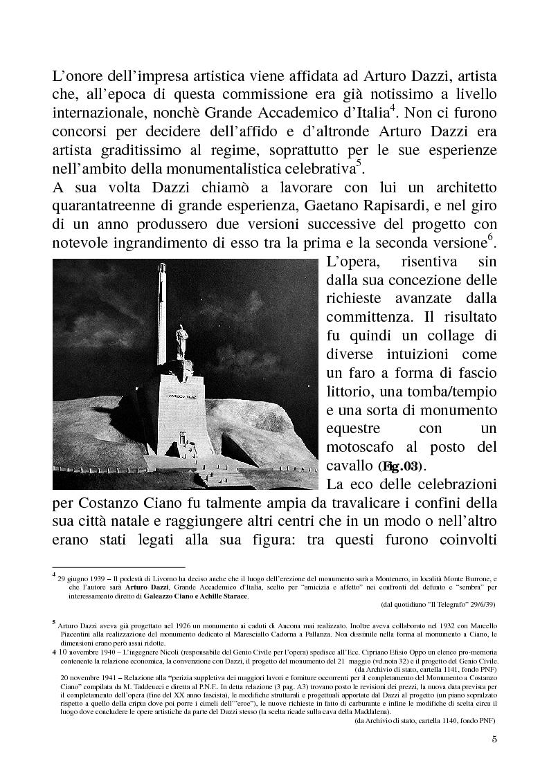 Anteprima della tesi: Studio e recupero del mausoleo di Costanzo Ciano a Livorno, Pagina 4
