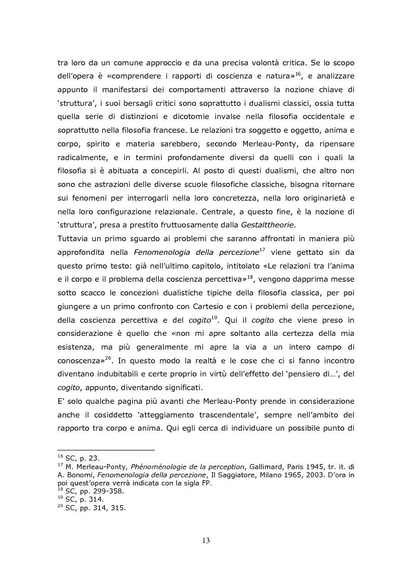 Anteprima della tesi: Cogito tacito e cogito parlato nella filosofia di Maurice Merleau-Ponty, Pagina 11