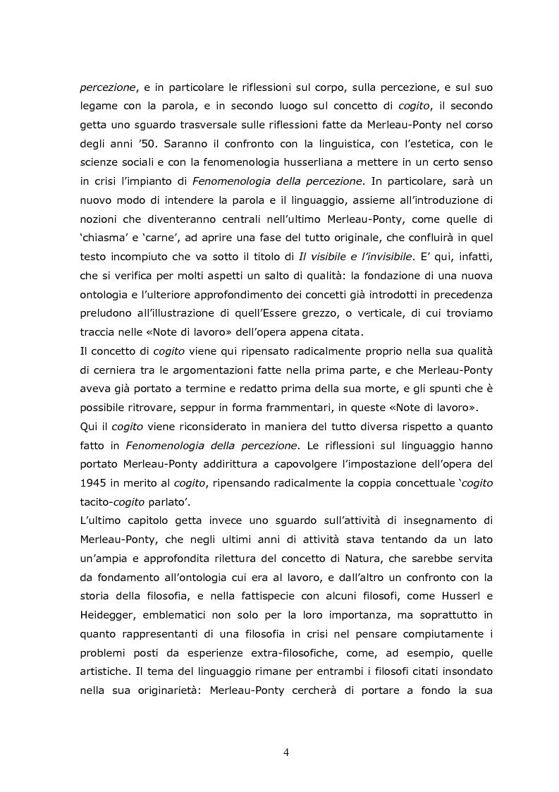 Anteprima della tesi: Cogito tacito e cogito parlato nella filosofia di Maurice Merleau-Ponty, Pagina 2