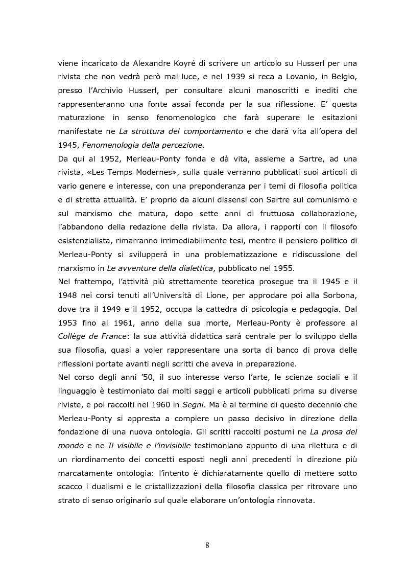 Anteprima della tesi: Cogito tacito e cogito parlato nella filosofia di Maurice Merleau-Ponty, Pagina 6