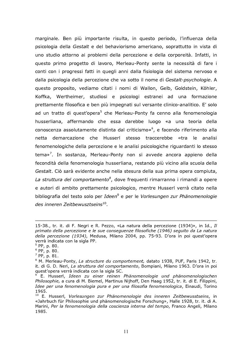 Anteprima della tesi: Cogito tacito e cogito parlato nella filosofia di Maurice Merleau-Ponty, Pagina 9